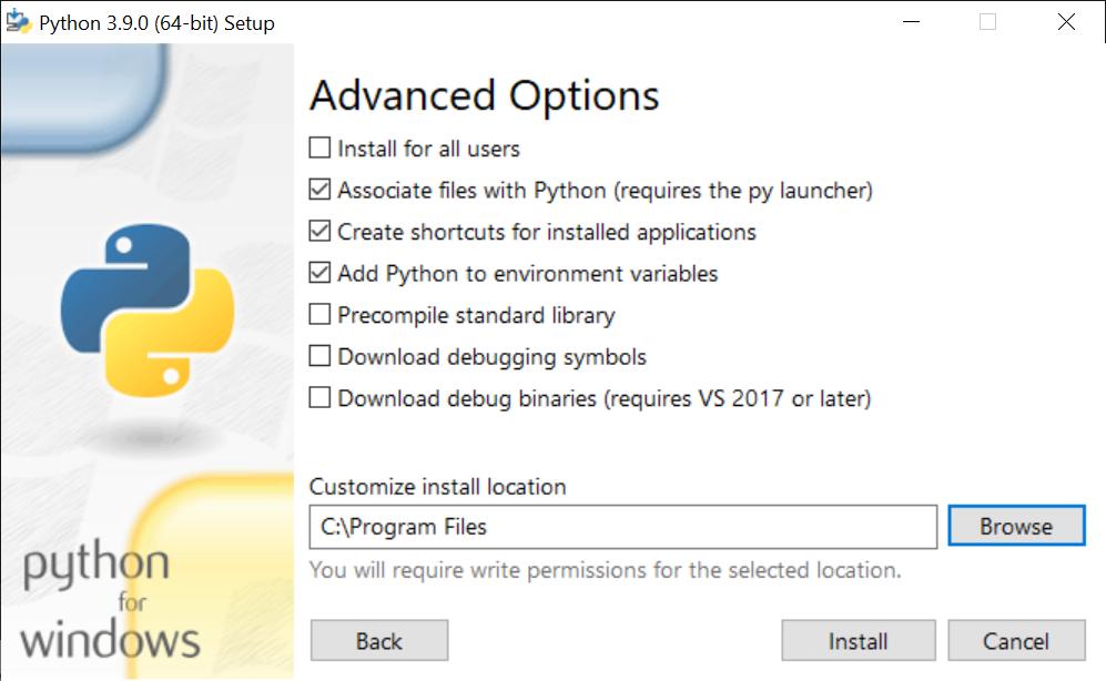 Instalación de Python en equipo con Windows 10