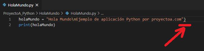 """IDE Visual Studio Code, mi primera aplicación Python """"Hola mundo"""""""