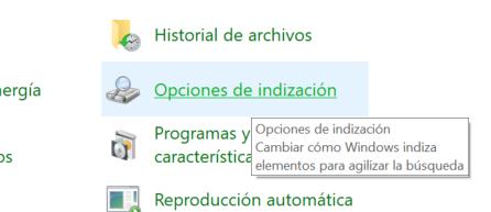 Desactivar indexación indización en discos duros SSD
