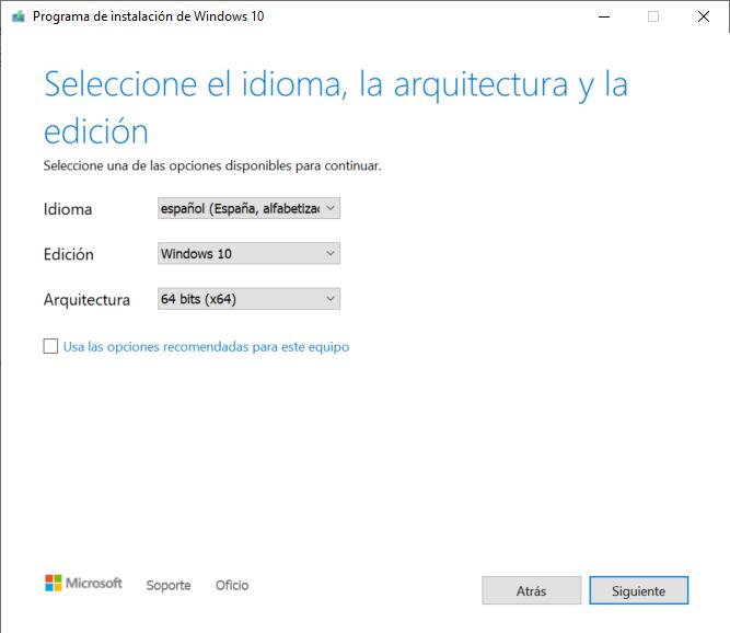 Preparar medio de instalación del sistema operativo, crear lápiz de memoria USB pendrive arrancable