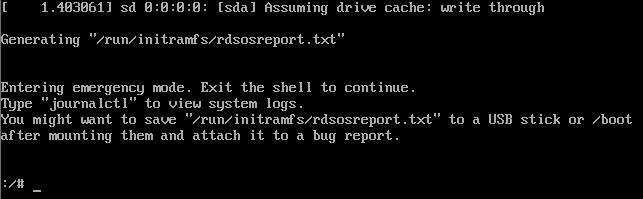 Error en el arranque de Linux con sistema de ficheros XFS y consultar el motivo