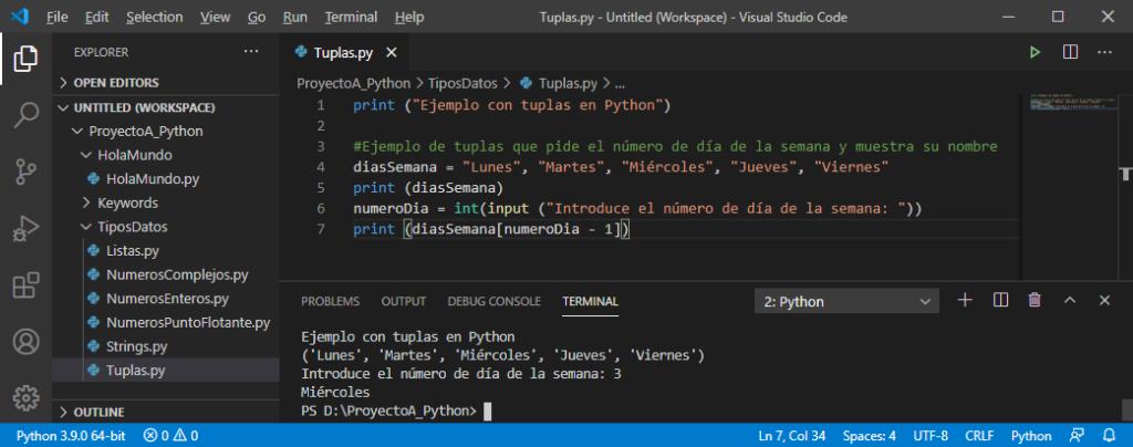 Tuplas en Python
