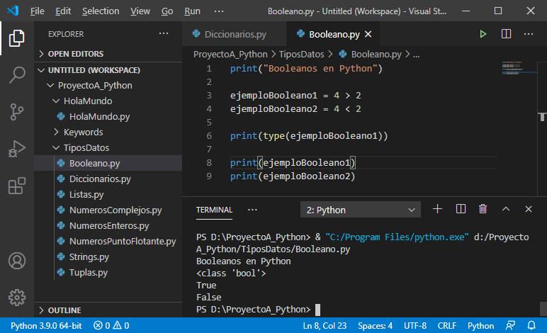 Booleano en Python