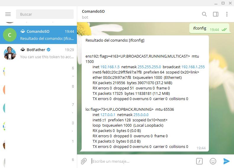 Aplicación Java que lee un comando enviado por Telegram y lo ejecuta en el sistema operativo con IntelliJ IDEA y repositorio Maven