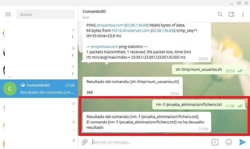 Algunos consejos de seguridad para el programa Java que ejecuta comandos del sistema operativo enviados desde Telegram