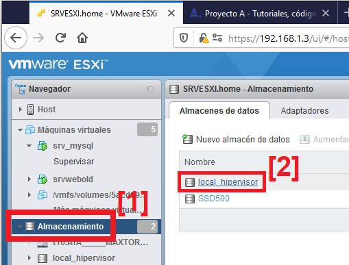 Descargar fichero ISO de Ubuntu 20 y subir a datastore VMware ESxi