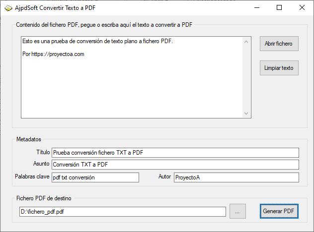 Convertir texto a PDF con iTextSharp y Visual Basic .Net VB.Net