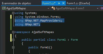 Cómo usar GMap.NET en aplicación Visual Studio .NET C# CSharp
