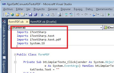 Convertir texto a PDF con VB.Net y iTextSharp