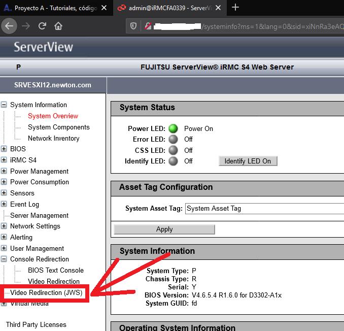 Recomendaciones antes de realizar el proceso - iRMC - Video Redirection - Fujitsu