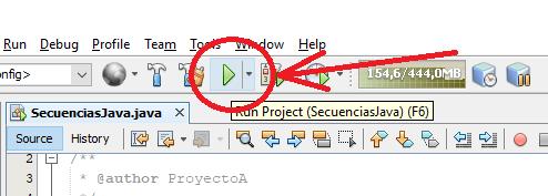 Código de ejemplo que usa secuencias de escape en Java