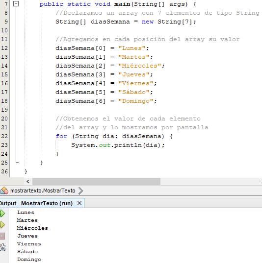 Tipos de datos y Arrays en Java para variables y conversión