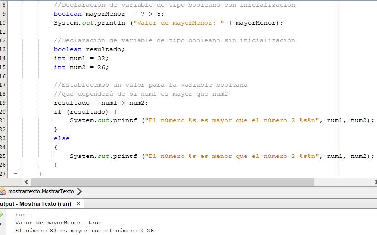 Boolean en java