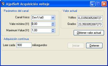 Sensor de temperatura con Visual Basic .Net