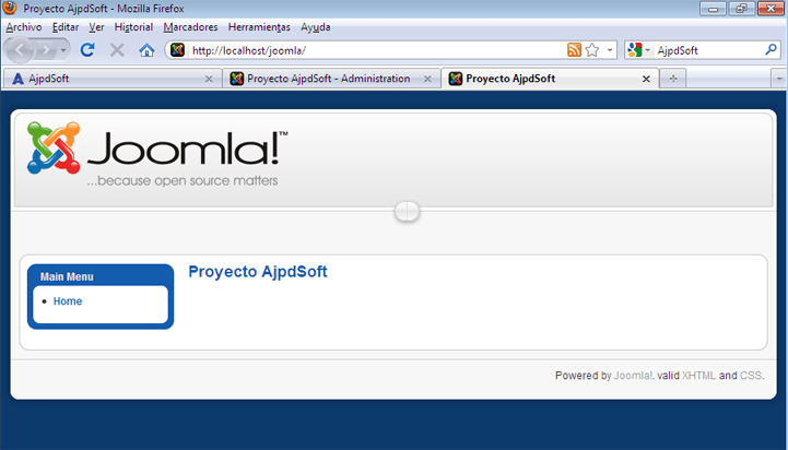 Montar un servidor web y un sitio web en Windows 7 con AppServ y Joomla!