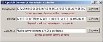 AjpdSoft Conversor Hexadecimal Decimal Texto – Código Fuente en Delphi