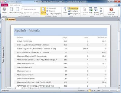 Crear un informe en Microsoft Access con tablas de MySQL Server