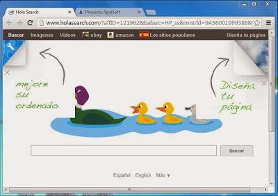 Buscadores desleales en navegadores web, browser hijacker