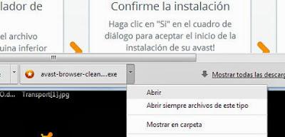 Limpiar navegadores de barras de botones indeseadas y browser hijacker mediante Avast Browser Cleanup
