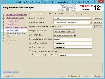Instalar Oracle 12c Release 1 en Windows Server 2012 R2 Datacenter