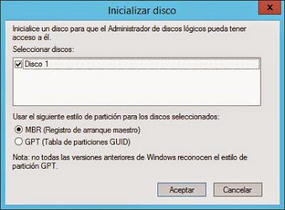 Añadir unidad de disco de SAN iSCSI a servidor virtual VMware ESXi W2012 para ficheros de datos de Oracle 12c