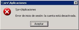 Escenario de trabajo, equipo con sistema operativo Microsoft Windows XP y acceso a recursos compartidos de red