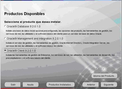 Cómo instalar Oracle Client 9 en Windows XP