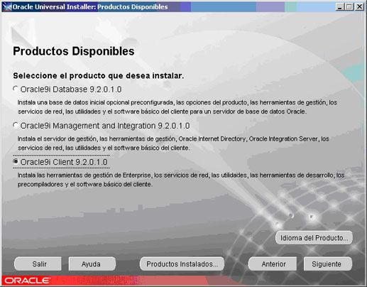 Cómo instalar Oracle Client 9 en Windows XP