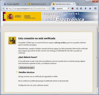 El error sec_error_unknown_issuer se produce al intentar acceder mediante Mozilla Firefox