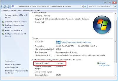 Obtener nombre de red (hostname) o nombre DNS del equipo
