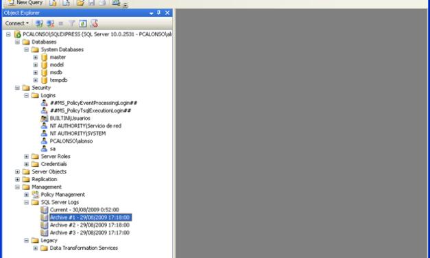 Instalar y administrar Microsoft SQL Server 2008 Express SP1