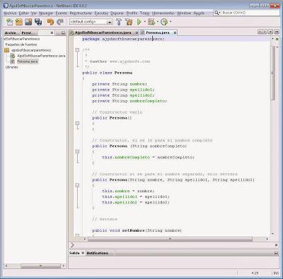 Crear clase Persona en Java con NetBeans