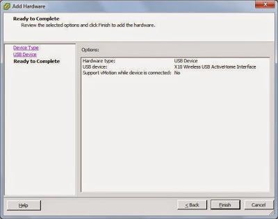 Asignar dispositivo USB a máquina virtual en VMware ESXi