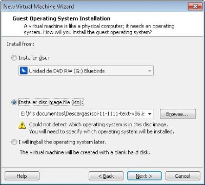 Crear máquina virtual para Oracle Solaris en VMware Workstation