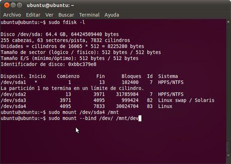 Restaurar GRUB2 en Linux Ubuntu 11.04 Natty Narwhal