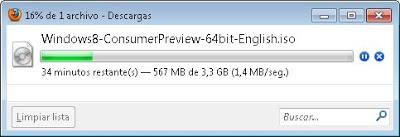 Descarga del fichero ISO, preparación del CD de arranque de Windows 8 Consumer Preview