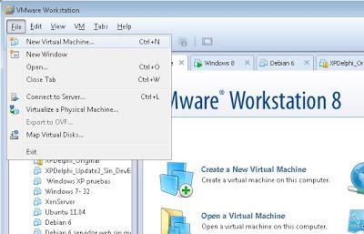 Crear máquina virtual VMware Workstation 8 con Windows 8 Consumer Preview