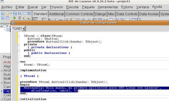 Instalar Lazarus en Linux Ubuntu, acceso a SQLite 3 con Lazarus