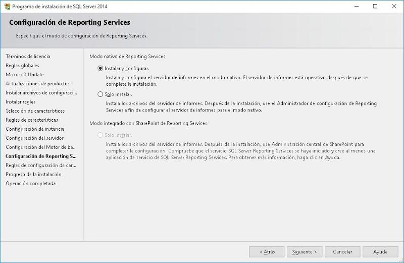 Descargar e instalar Microsoft SQL Server Express 2014 en Windows 10