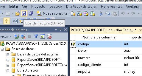 Administración SQL Server con Microsoft SQL Server Management Studio, crear base de datos, crear tabla en SQL Server