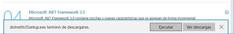 "Solución al error: La regla ""Se requiere Microsoft .NET Framework 3.5 Service Pack 1"" no se cumple."