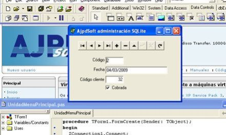 Acceso a SQLite 3 mediante Delphi 6 y ZeosDBO en Windows XP