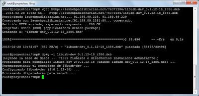 Instalar libusb en Linux Ubuntu Server
