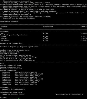 Instalar PHP para Apache en Linux CentOs 7, instalar módulos PHP LDAP, MySQL