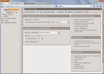 Instalar phpMyAdmin en Linux CentOS 7 para administrar servidor MySQL vía web