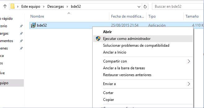 Prueba de aplicación obsoleta en Windows 10