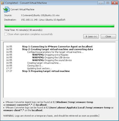 Cómo exportar una máquina virtual de VMware Workstation 7 a VMware ESXi 5