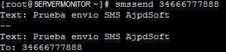 Enviar SMS a móvil desde equipo con Linux CentOS mediante módem GSM y SMS Tools
