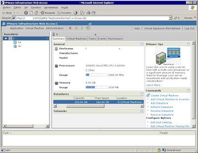 Obtener datos de VMware Server para la conversión a ESX