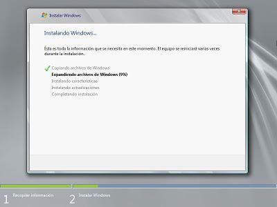 Instalar Microsoft Windows Server 2008 Standard R2 x64 en un equipo nuevo